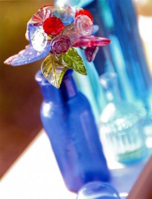 Anthroplogie blue glass