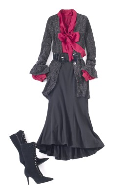 Newport News red bow outfit
