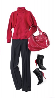 Newport News red sweater outfit