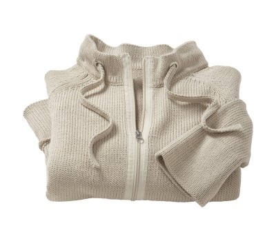 folded zip sweater