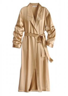 gold silk robe