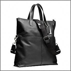 mens black side briefcase