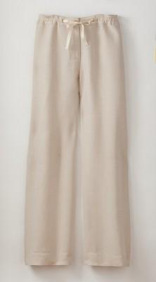 white linnen pants